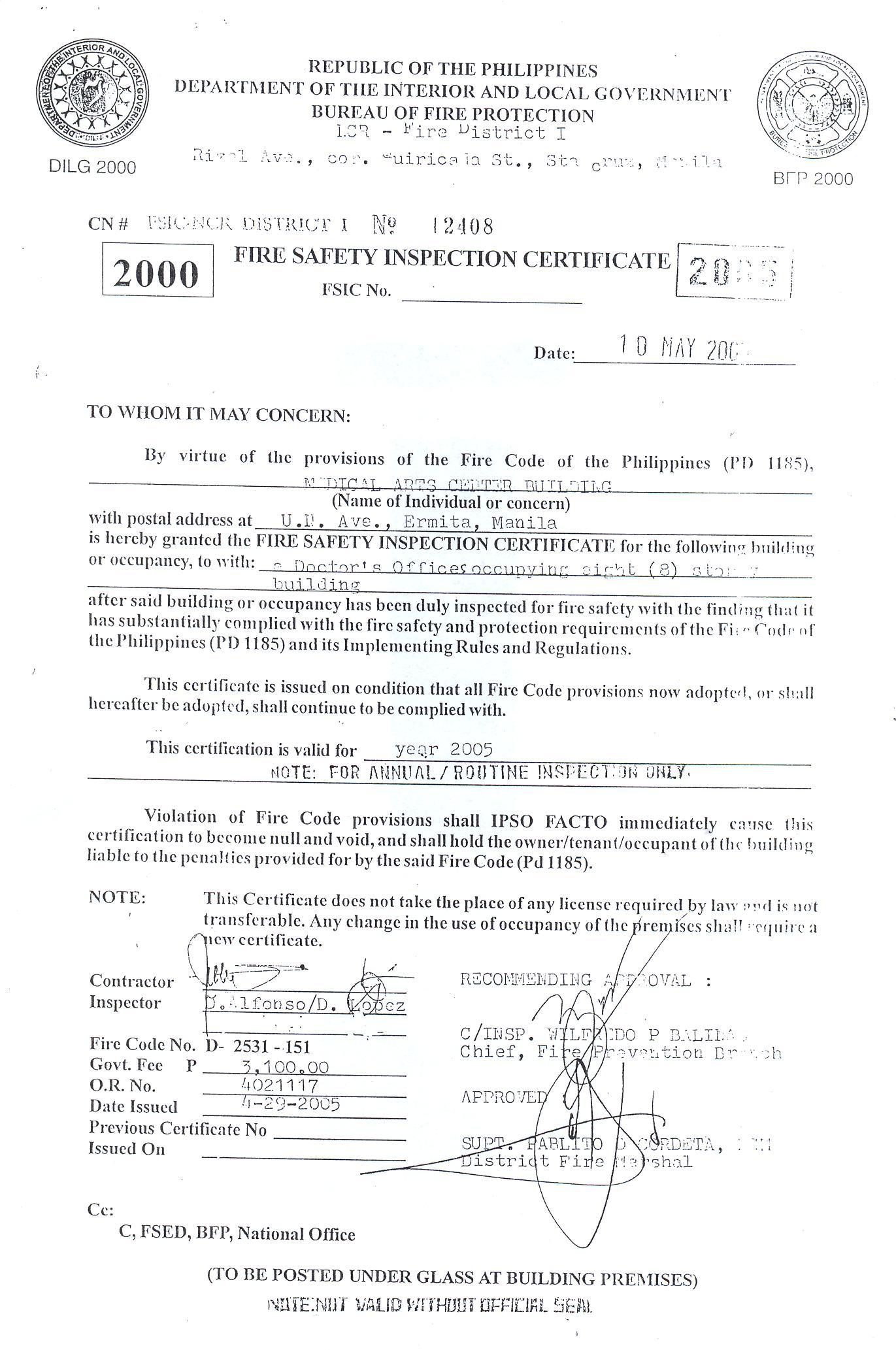 doctor s certificate